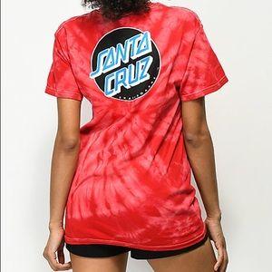 Women's Santa Cruz tye dye t-shirt
